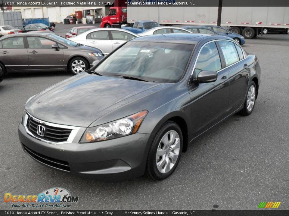 2010 honda accord ex sedan polished metal metallic gray for Grey honda accord