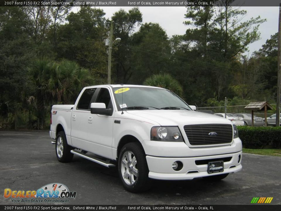 2007 ford f150 fx2 sport supercrew oxford white black red photo 1. Black Bedroom Furniture Sets. Home Design Ideas
