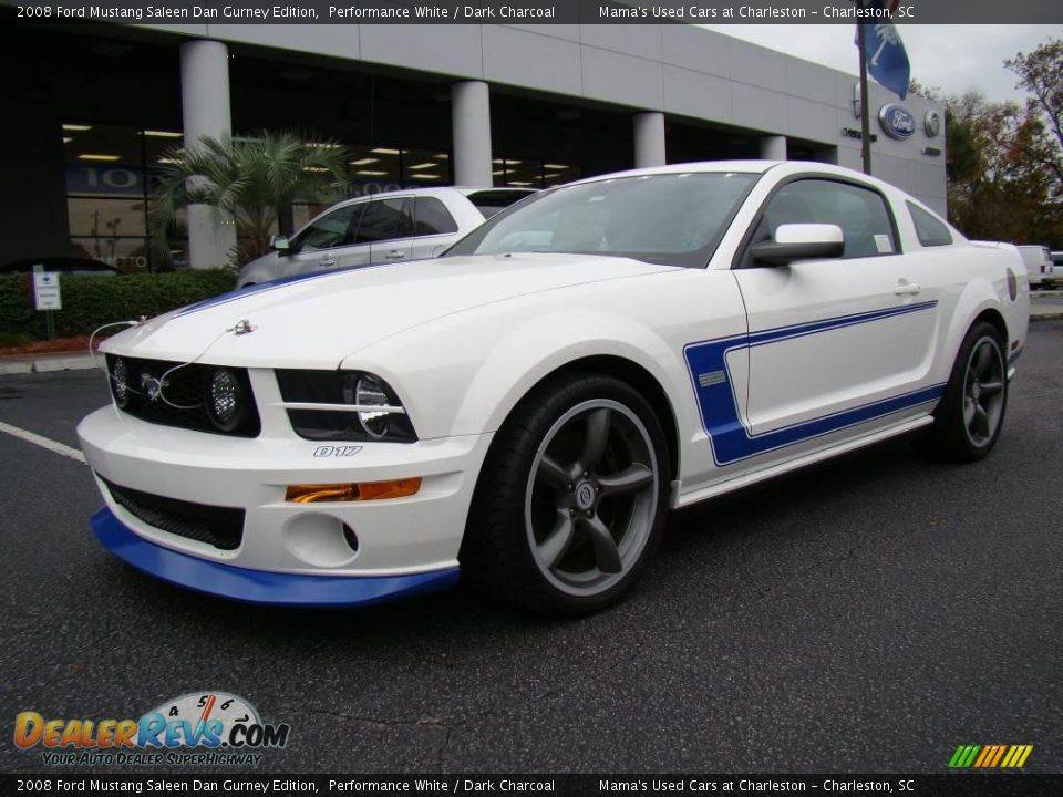 2008 ford mustang saleen dan gurney edition performance white dark charcoal photo 2. Black Bedroom Furniture Sets. Home Design Ideas