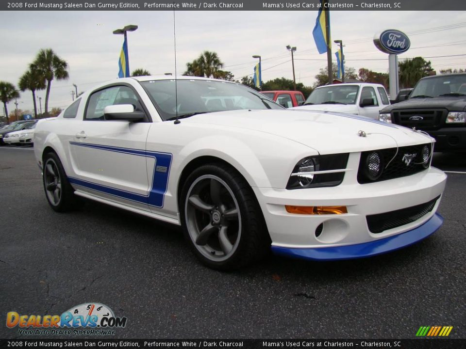 2008 ford mustang saleen dan gurney edition performance white dark charcoal photo 4. Black Bedroom Furniture Sets. Home Design Ideas