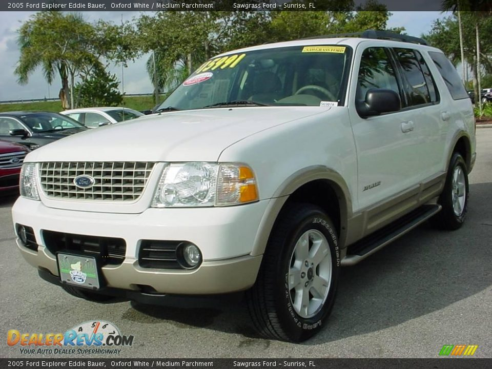 2005 ford explorer eddie bauer oxford white medium parchment photo 8. Black Bedroom Furniture Sets. Home Design Ideas
