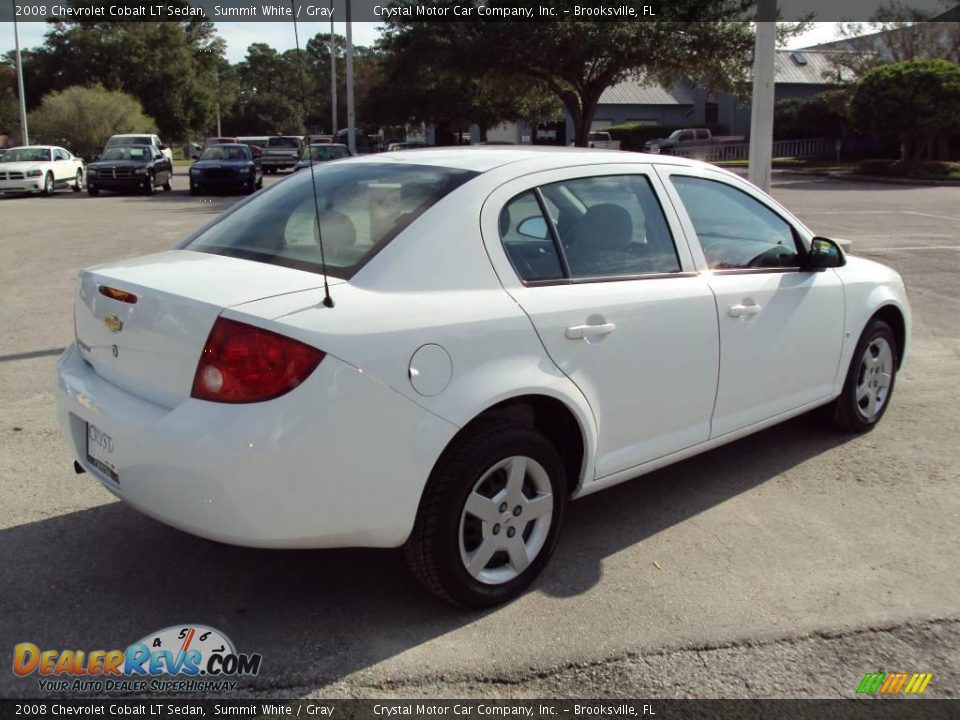 2008 chevrolet cobalt lt sedan summit white gray photo. Cars Review. Best American Auto & Cars Review