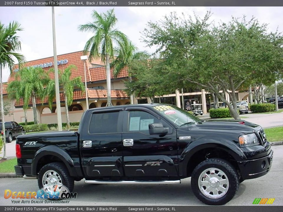 2007 Ford F150 Tuscany FTX SuperCrew 4x4 Black / Black/Red Photo #2