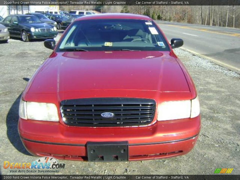 2000 ford crown victoria police interceptor toreador red for Crown motors ford redding