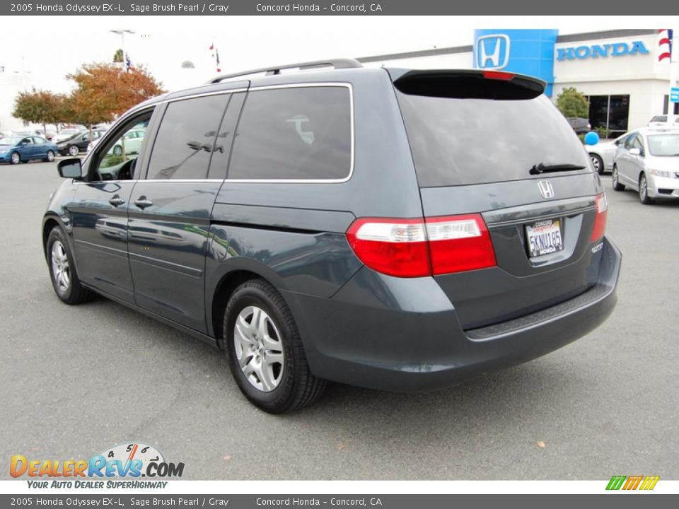 2005 honda odyssey ex l sage brush pearl gray photo 5