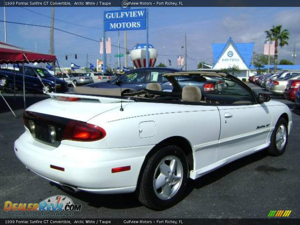1999 pontiac sunfire gt convertible arctic white taupe. Black Bedroom Furniture Sets. Home Design Ideas