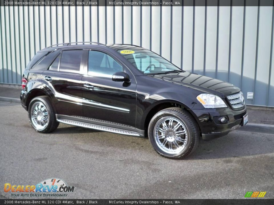 2008 mercedes benz ml 320 cdi 4matic black black photo 1. Black Bedroom Furniture Sets. Home Design Ideas