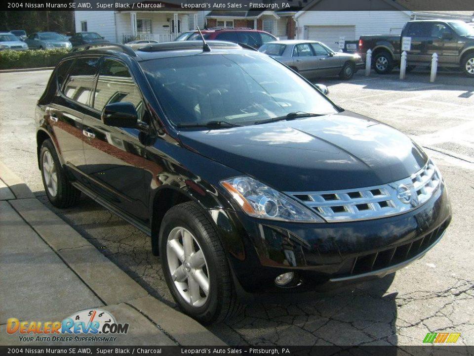2004 Nissan Murano Se Awd Super Black Charcoal Photo 6