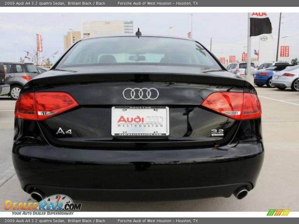 2009 Audi A4 3 2 Quattro Sedan Brilliant Black Black