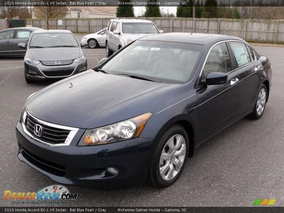2010 honda accord ex l v6 sedan bali blue pearl gray. Black Bedroom Furniture Sets. Home Design Ideas