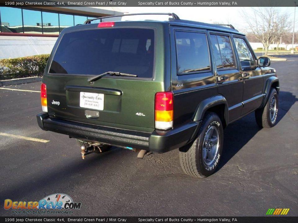 1998 jeep cherokee classic 4x4 emerald green pearl mist gray photo 12 dealerrevs com
