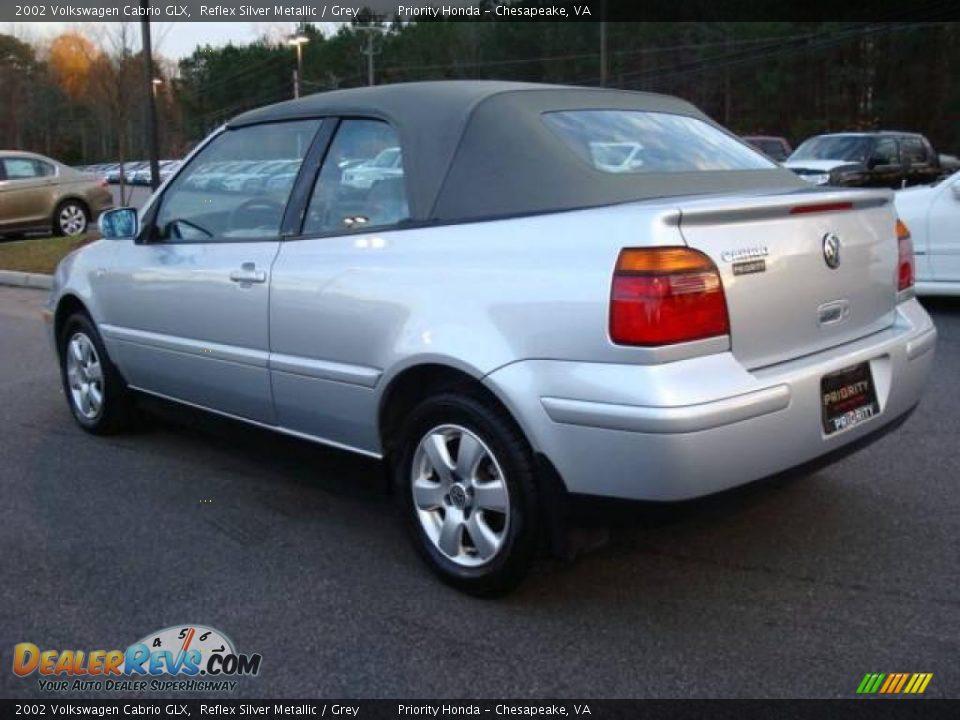 2002 Volkswagen Cabrio Glx Reflex Silver Metallic Grey