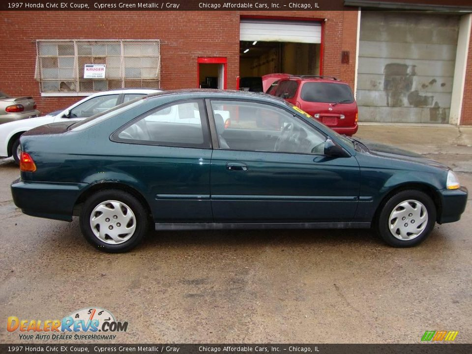 1997 honda civic ex coupe cypress green metallic gray photo 6. Black Bedroom Furniture Sets. Home Design Ideas