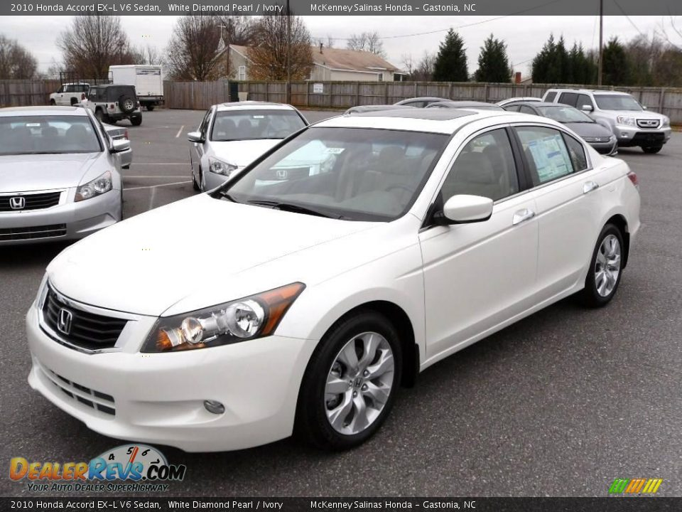 2010 honda accord ex l v6 sedan white diamond pearl. Black Bedroom Furniture Sets. Home Design Ideas