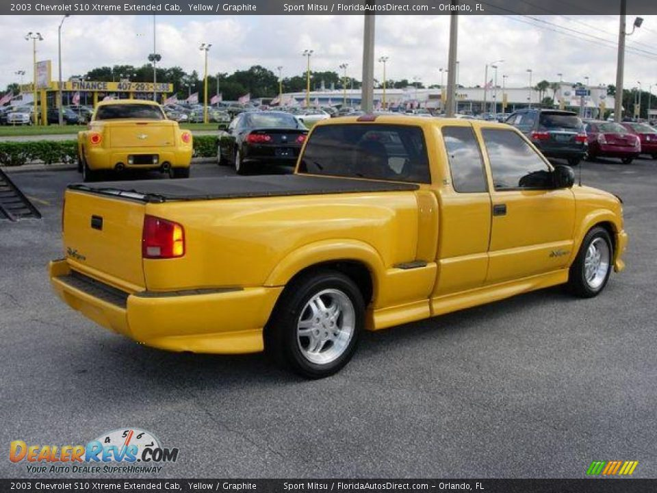 2003 Chevy S10 Extreme 2003 Chevrolet S10 Xtreme Extended Cab Yellow / Graphite Photo #5 ...