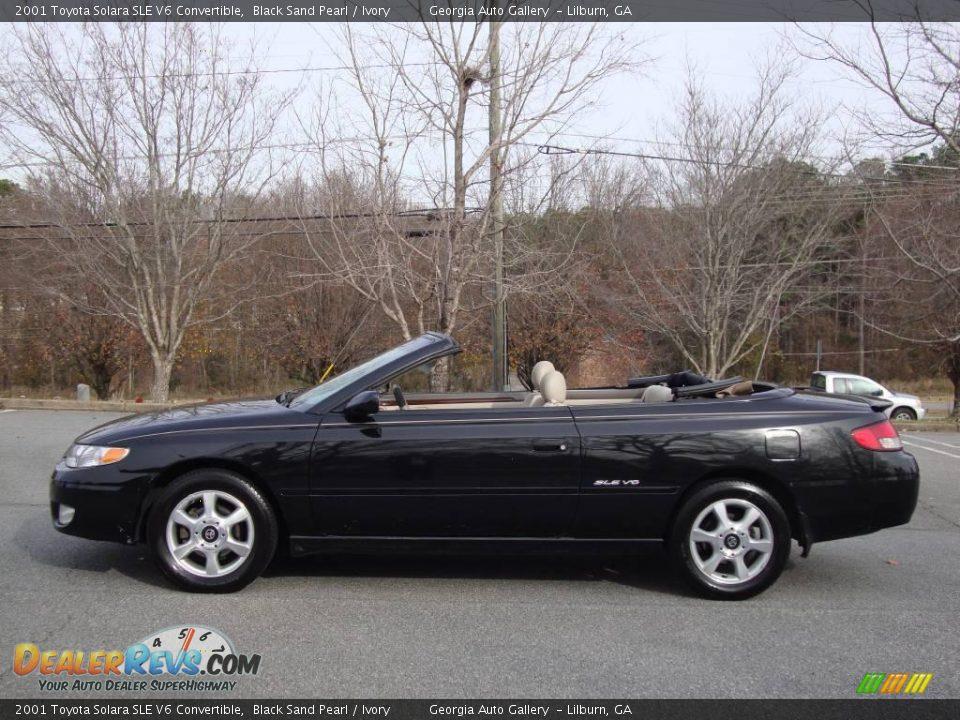 2001 Toyota Solara Sle V6 Convertible Black Sand Pearl