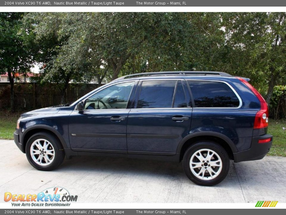 2004 volvo xc90 t6 awd nautic blue metallic taupe light taupe photo 5. Black Bedroom Furniture Sets. Home Design Ideas