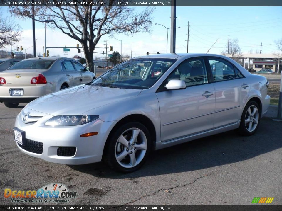 2008 mazda mazda6 i sport sedan silver metallic gray. Black Bedroom Furniture Sets. Home Design Ideas
