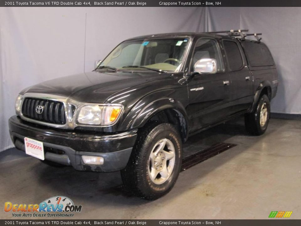 2001 toyota tacoma v6 trd double cab 4x4 black sand pearl oak beige photo 1. Black Bedroom Furniture Sets. Home Design Ideas