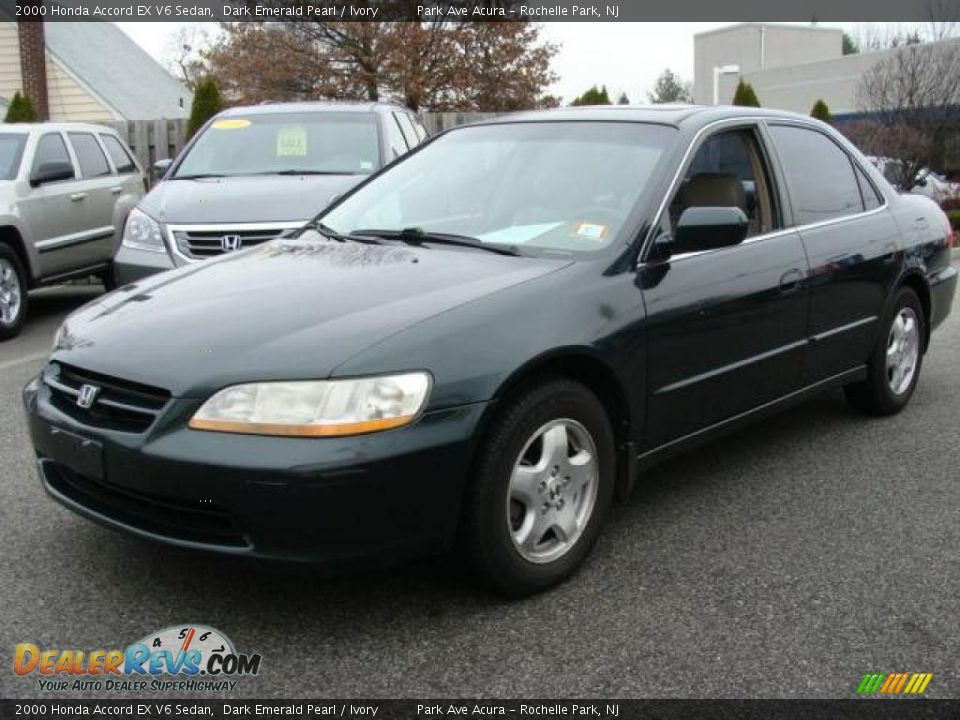 2000 Honda Accord EX V6 Sedan Dark Emerald Pearl / Ivory ...