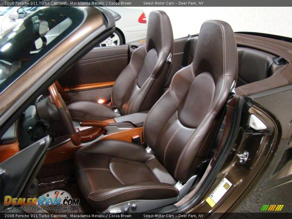 cocoa brown interior 2008 porsche 911 turbo cabriolet photo 10. Black Bedroom Furniture Sets. Home Design Ideas