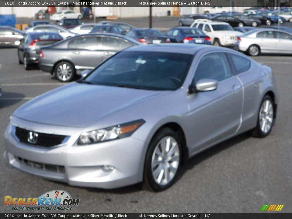 2010 honda accord ex l v6 coupe alabaster silver metallic. Black Bedroom Furniture Sets. Home Design Ideas