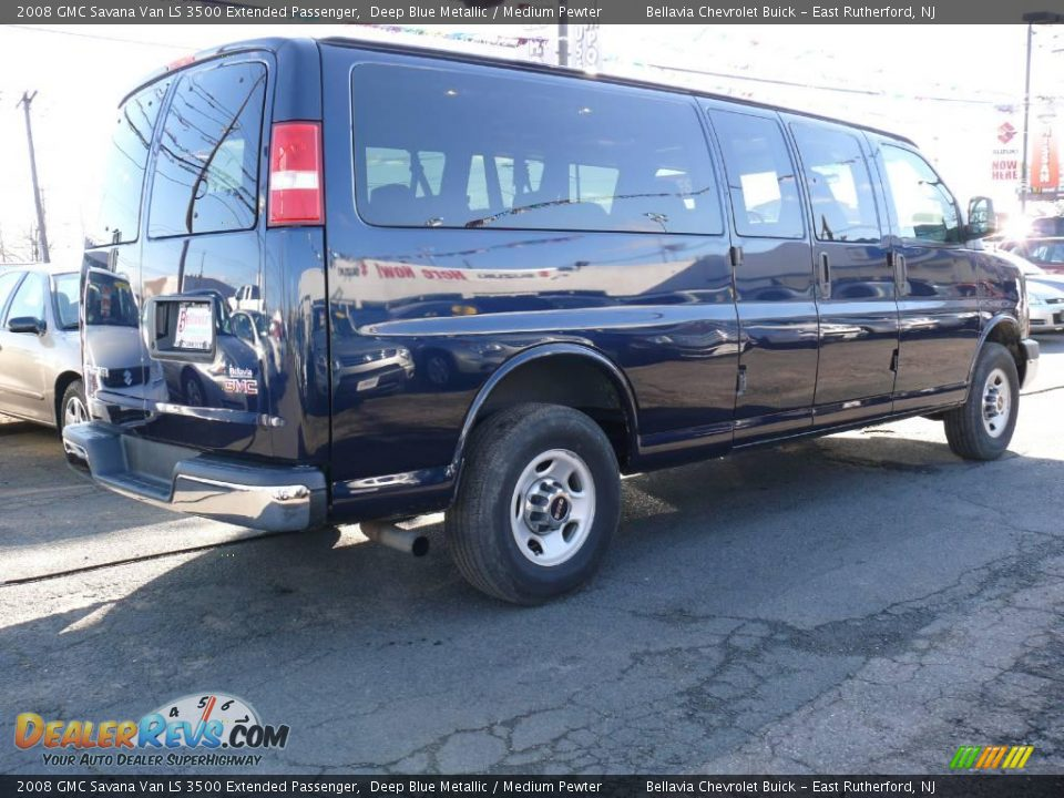 2008 gmc savana van ls 3500 extended passenger deep blue. Black Bedroom Furniture Sets. Home Design Ideas