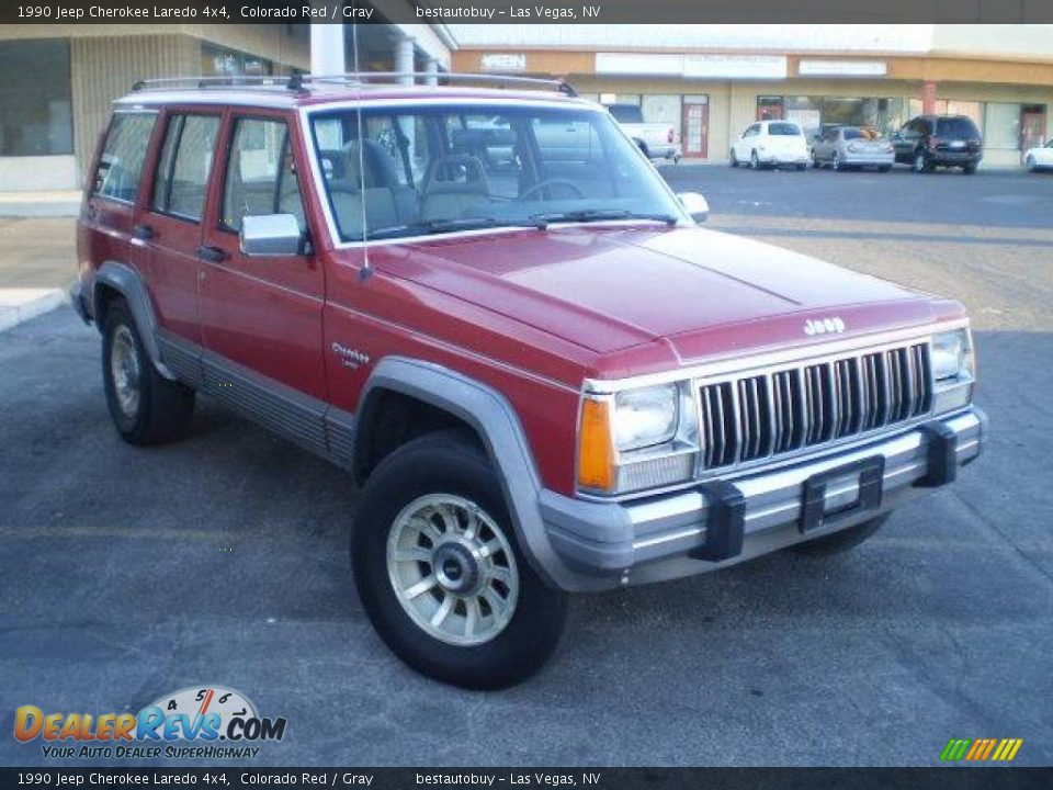 1990 jeep cherokee laredo 4x4 colorado red gray photo 2. Black Bedroom Furniture Sets. Home Design Ideas