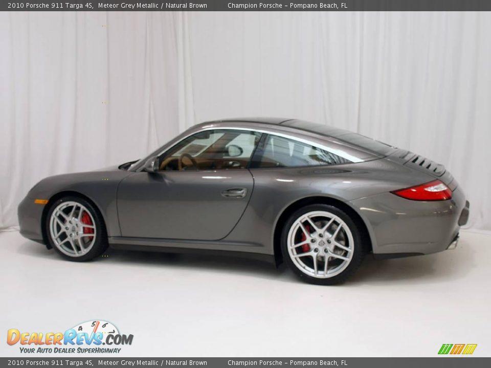 2010 Porsche 911 Targa 4s Meteor Grey Metallic Natural Brown Photo 9 Dealerrevs Com