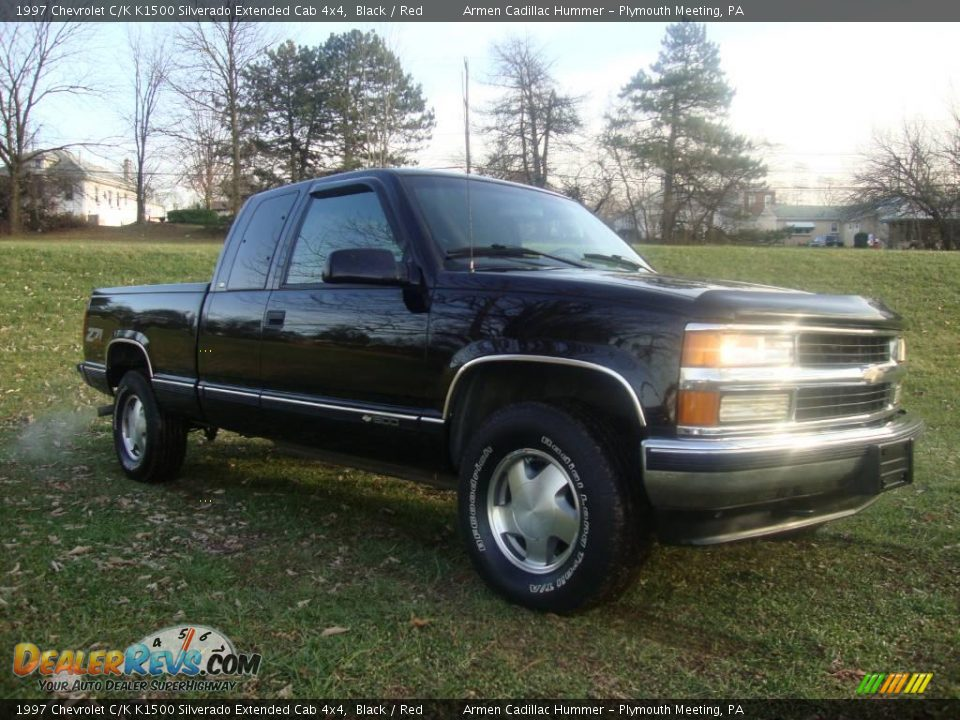 1997 chevrolet c k k1500 silverado extended cab 4x4 black red photo 5. Black Bedroom Furniture Sets. Home Design Ideas