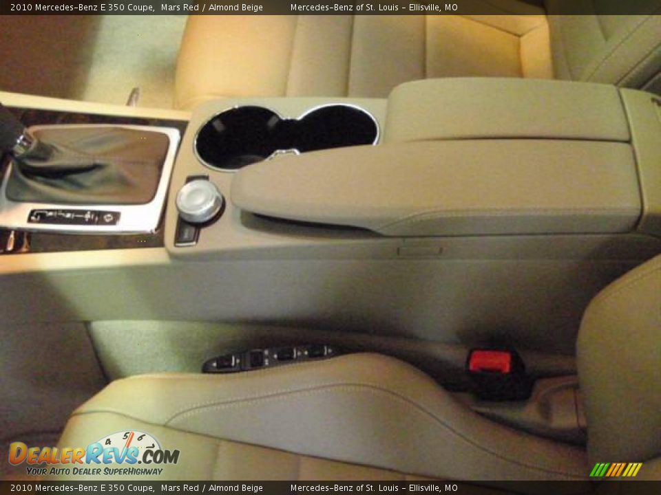 2010 Mercedes-Benz E 350 Coupe Mars Red / Almond Beige Photo #14