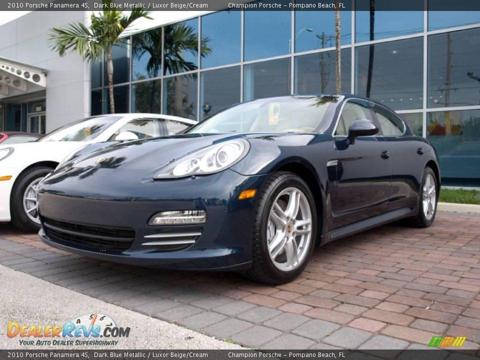 2010 Porsche Panamera 4s Dark Blue Metallic Luxor Beige