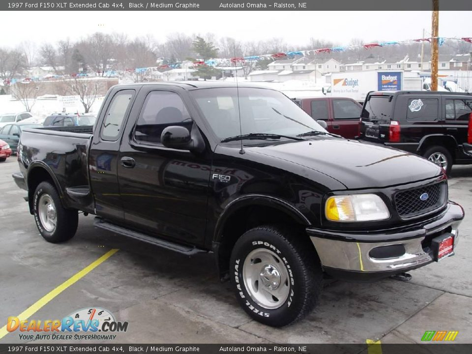 1997 ford f150 xlt extended cab 4x4 black medium graphite photo 2. Black Bedroom Furniture Sets. Home Design Ideas