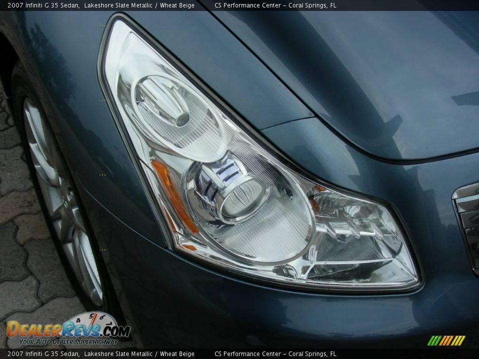 2007 Infiniti G 35 Sedan Lakeshore Slate Metallic / Wheat Beige Photo #9