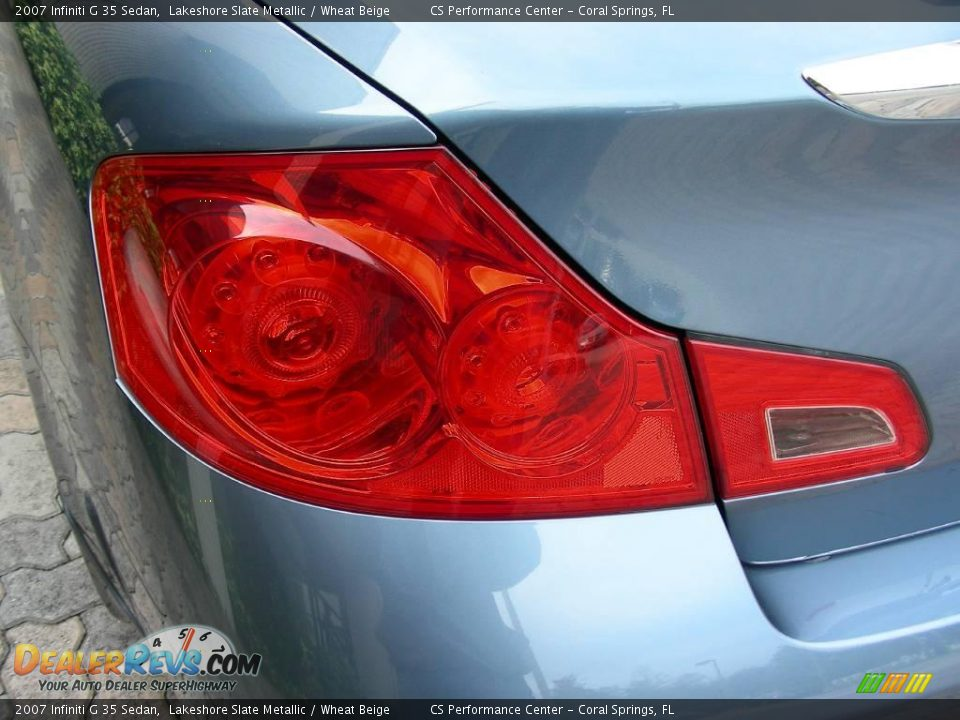 2007 Infiniti G 35 Sedan Lakeshore Slate Metallic / Wheat Beige Photo #11