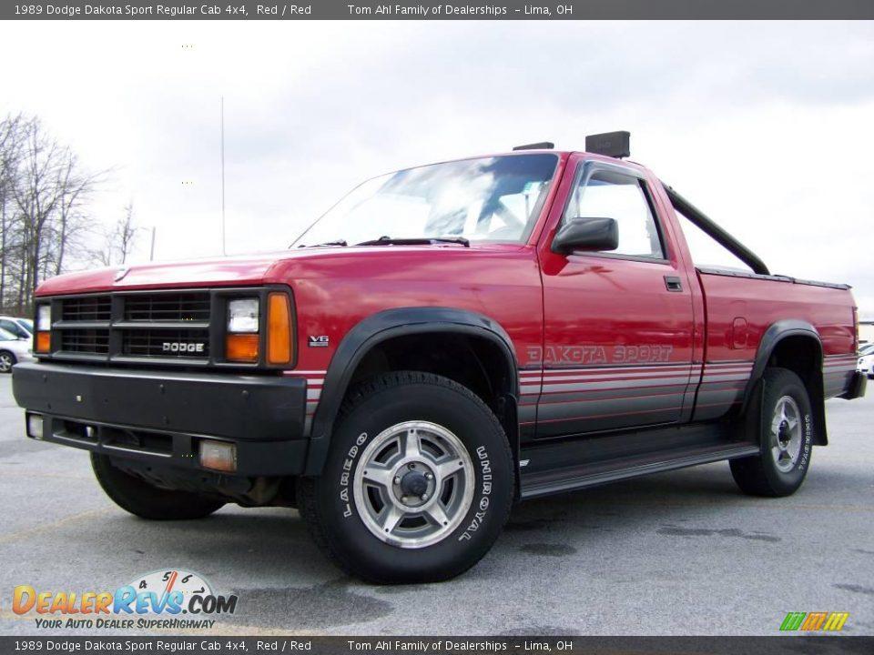 1989 Dodge Dakota Sport Regular Cab 4x4 Red Red Photo 5