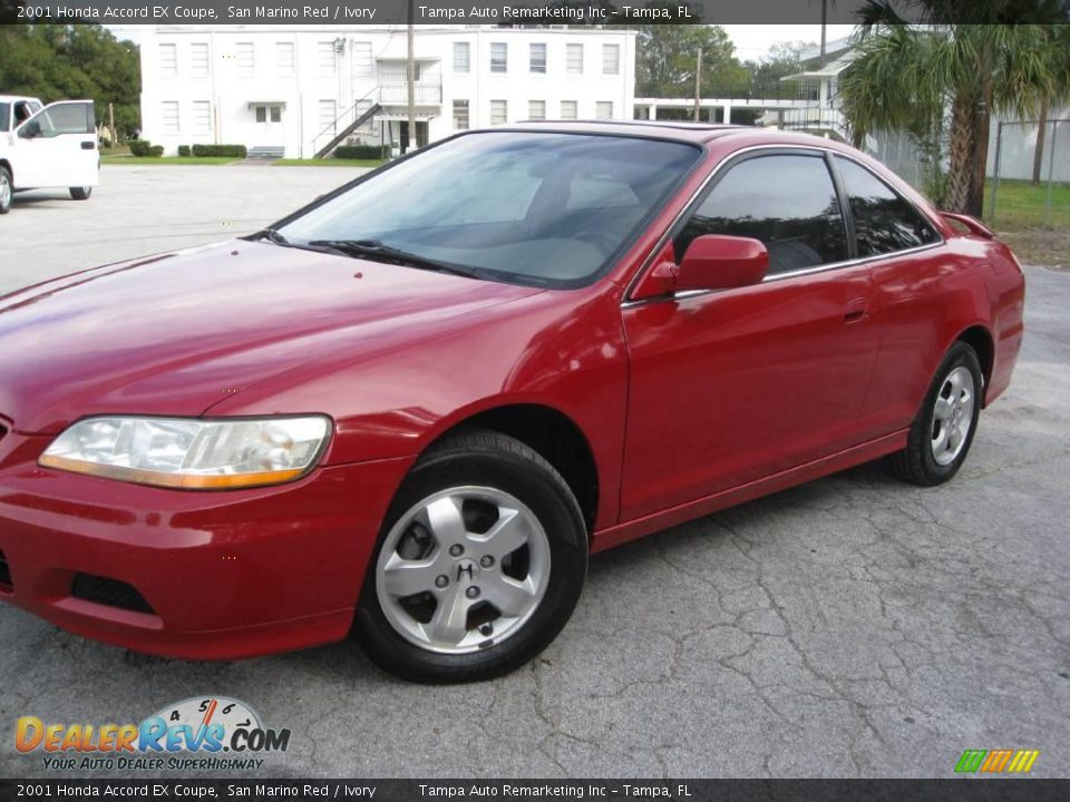 2001 honda accord ex coupe san marino red ivory photo 4. Black Bedroom Furniture Sets. Home Design Ideas