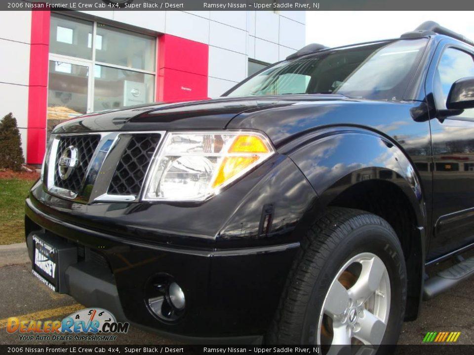 2006 Nissan Frontier Le Crew Cab 4x4 Super Black Desert