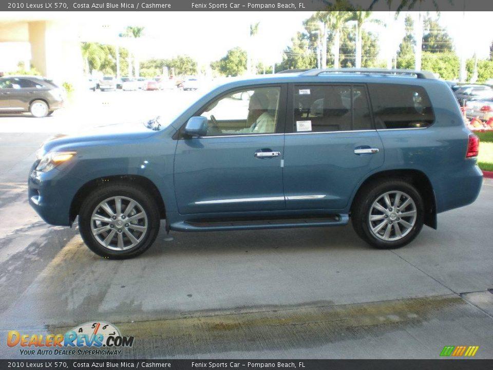 2010 Lexus Lx 570 Costa Azul Blue Mica Cashmere Photo 4