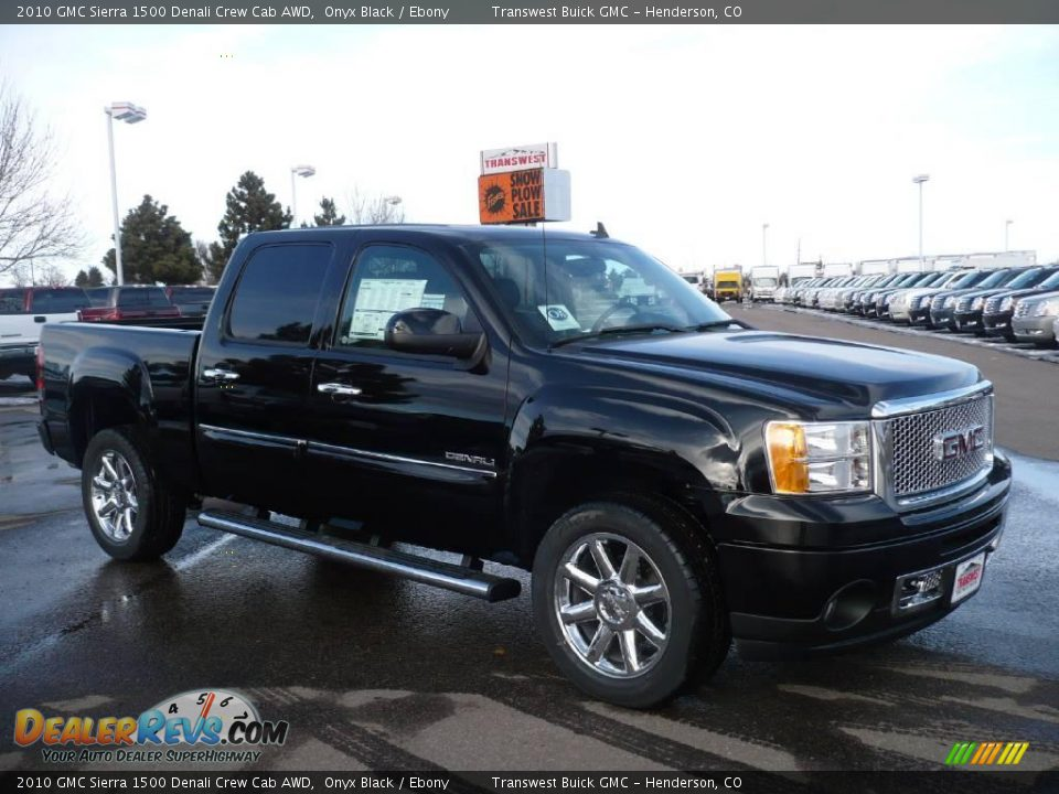 2010 gmc sierra 1500 denali crew cab awd onyx black. Black Bedroom Furniture Sets. Home Design Ideas