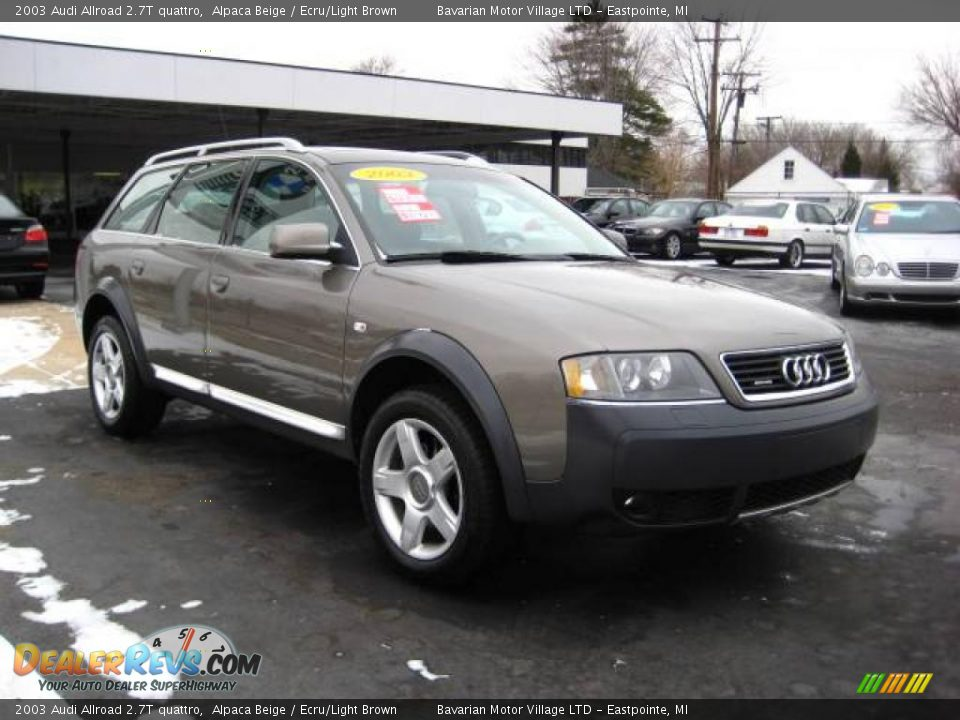 2003 audi allroad 2 7t quattro alpaca beige ecru light brown photo 7. Black Bedroom Furniture Sets. Home Design Ideas