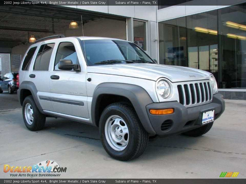2002 jeep liberty sport 4x4 bright silver metallic dark. Black Bedroom Furniture Sets. Home Design Ideas