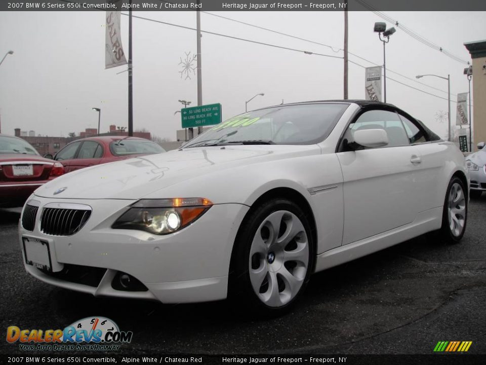 2007 bmw 6 series 650i convertible alpine white chateau red photo 1. Black Bedroom Furniture Sets. Home Design Ideas