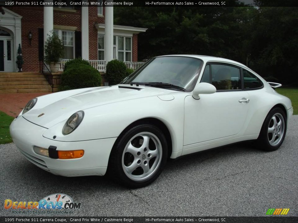 1995 porsche 911 carrera coupe grand prix white cashmere beige photo 2. Black Bedroom Furniture Sets. Home Design Ideas