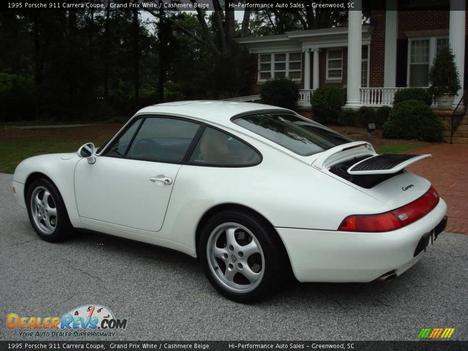 1995 porsche 911 carrera coupe grand prix white cashmere beige photo 4. Black Bedroom Furniture Sets. Home Design Ideas