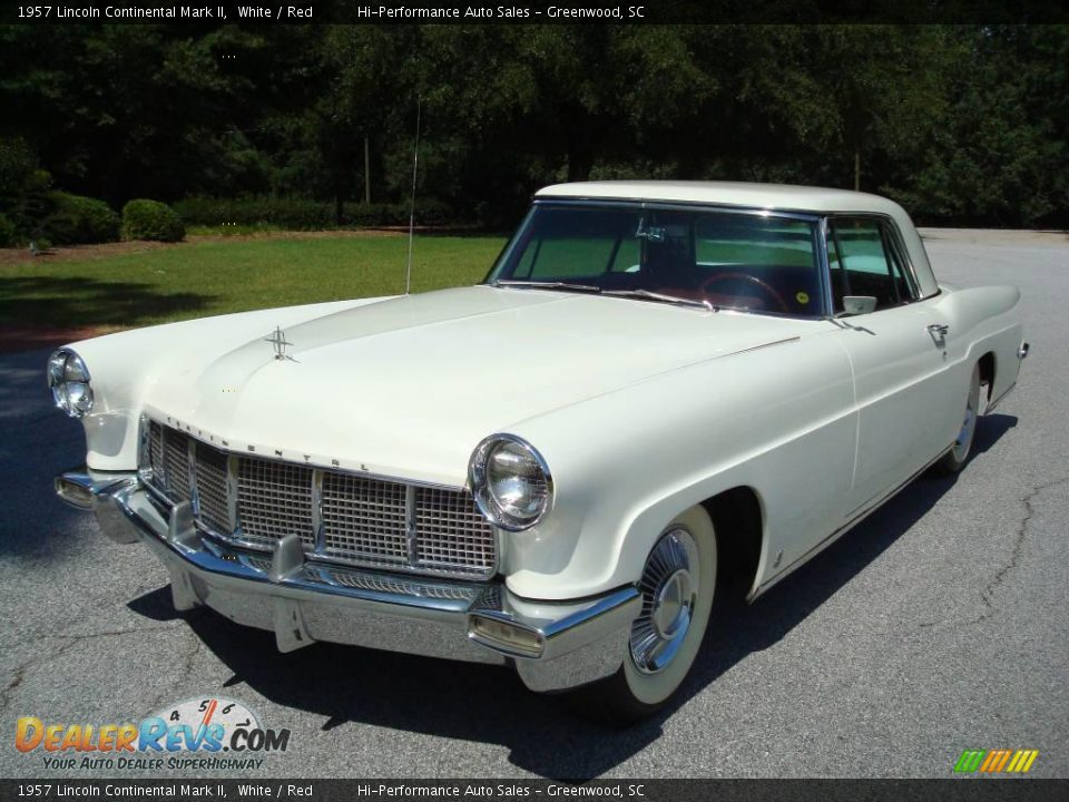 1957 Lincoln Continental Mark II White / Red Photo #1