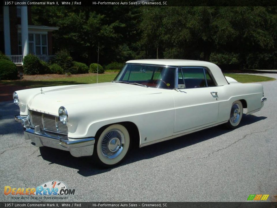 1957 lincoln continental mark ii white red photo 2. Black Bedroom Furniture Sets. Home Design Ideas