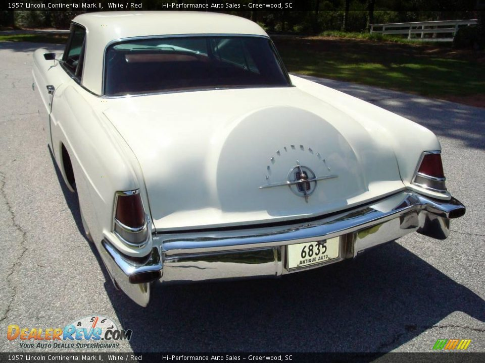 1957 Lincoln Continental Mark II White / Red Photo #6