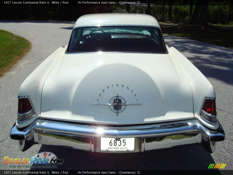 1957 Lincoln Continental Mark II White / Red Photo #7