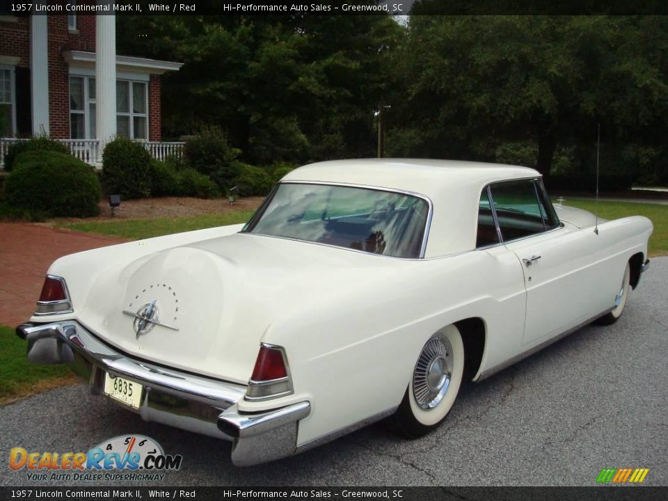 1957 Lincoln Continental Mark II White / Red Photo #9